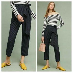 Anthropologie pinstrip crop pants Size 4